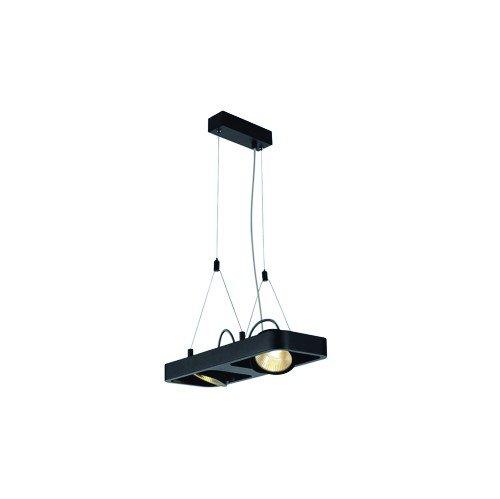 SLV Pendelleuchte Lynah double, COB LED, 2 x 10W, 3000 K, 24 Grad, schwarz 154900