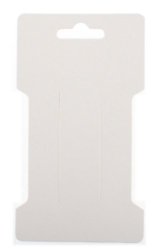 Trimweaver 100-Piece Rectangular Hair Clip Display Cards, Satin White (Hair Display Cards compare prices)