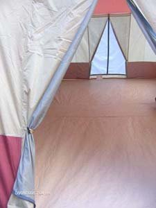 16' x 10' - 3 ROOM Family Cabin Tent, With Full, Wrap Around Roof Fly Plus 2 AWNINGS and 2 DOORS