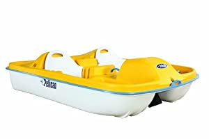 Buy Pelican Fiji Pedal Boat, Yellow White by Pelican