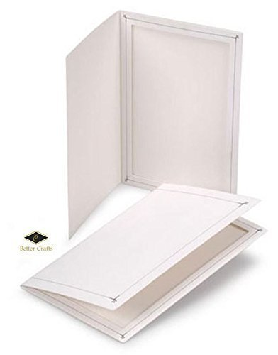 BETTER CRAFTS Cardboard Photo Folder 4x6 - Pack of 100 White (Cardboard Photo Frame 4x6 compare prices)
