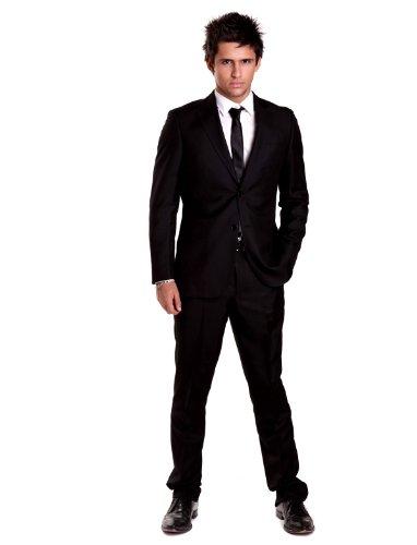 Alberto Cabale Tco2148 15 Straight Black Man Suits Men - T58-50
