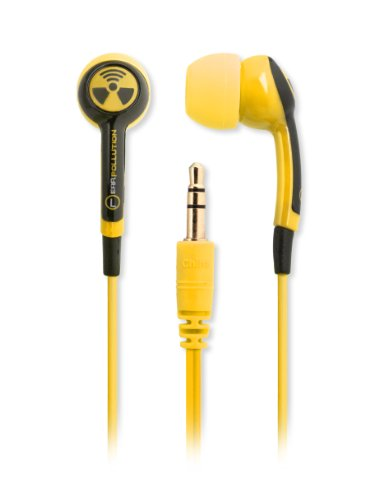Earpollution Epd33-Hornet Plugz Earbuds, Yellow/Black