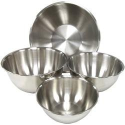 Light Weight Stainless Steel Mixing Bowls - Set of 4 by ChefLand
