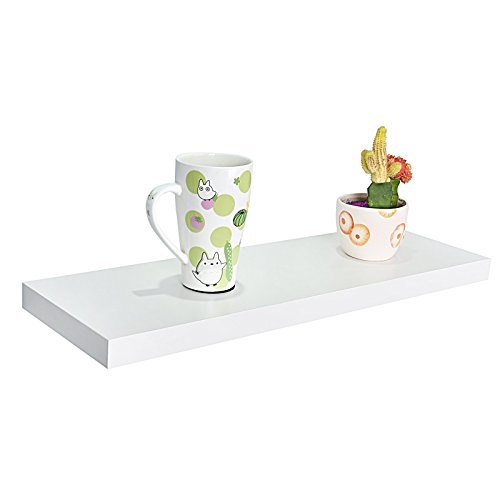 WELLAND Simons Floating Wall Shelf, 24-Inch, Off White