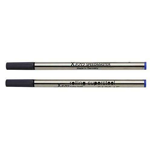 Recharges pour stylo à bille Xezo Speedmaster (x2). Encre bleue