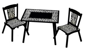 Levels Of Discovery Levels Of Discovery Wild Side Table And Chair Set