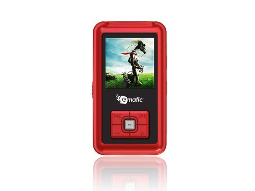 Ematic EM102VIDR 1.5-Inch 4 GB MP3 Video Player (Red)