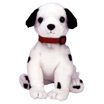 TY Beanie Baby - DIZZY the Dalmatian (black spots, black ears & red collar) - 1