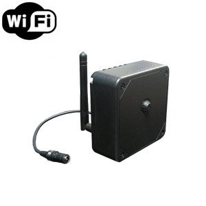 Wireless Spy Camera with WiFi Digital IP Signal, Recording & Remote Internet Access (Hide-it-yourself, conical pinhole lens)