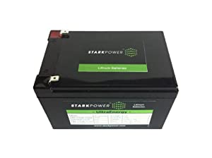 12V 12Ah, StarkPower, Lithium Phosphate Battery (LiFePO)