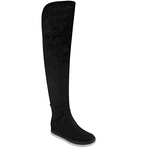 Mari A KICKER Womens Over the Knee Boot 7 Black (Baby Trend Rain Cover compare prices)