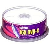 Benq DVD-R 4,7GB 120Min 16x Cake Box 25pk - DVD+RW vírgenes (5 - 30 °C, 5 - 60 %, caja para pastel)
