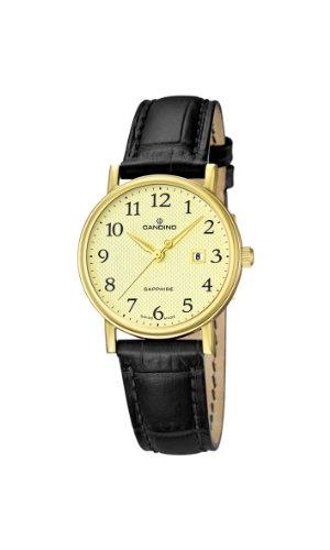 Candino C4490/1 - Reloj analógico de cuarzo para mujer con correa de piel, color negro