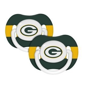 Green Bay Packers 2 PACK ORTHODONTIC PACIFIERS Baby Fanatic FAN GIFT NFL