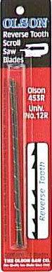 Olson Saw FR45302   Reverse Tooth Scroll Saw Blade, .062 by .024-Inch,9.5 6REV BL12