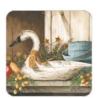Coasters Set of Four - Festive Mantle Christmas Goose - John Rossini & Legacy