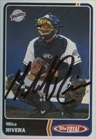 Mike Rivera San Diego Padres 2003 Topps Total Autographed Hand Signed Trading Card. by Hall+of+Fame+Memorabilia