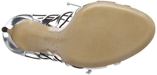 Casadei Women's Dress Sandal, Barbarella/Tintura Argento/Nero, 36 EU/6 M US