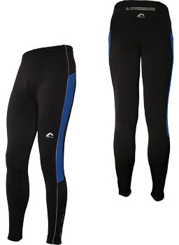 Mens More Mile Montreal Black THERMAL running tights