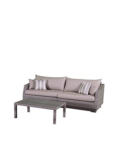 RST Brands Cannes 2-Piece Sofa and Coffee Table Set, Grey