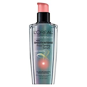 L'Oreal Advanced Haircare Smooth Intense Frizz Taming Serum 3.4 oz. (Pack of 3)