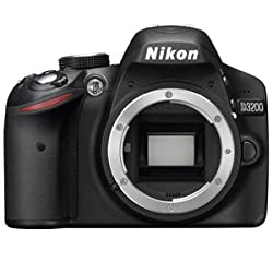Nikon D3200 24.2MP Digital SLR Camera (Black) Body Only, 8GB Card, Camera Bag