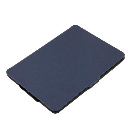 Amazon kindle paperwhite/kindle paperwhite 2用 PUレザーカバー マグネット機能搭載 ブルー
