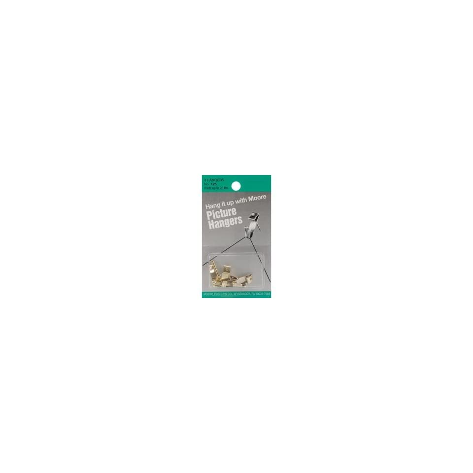 Moore Push Pin Picture Hangers 5/Pkg Up To 20 Lb; 12 Items/Order