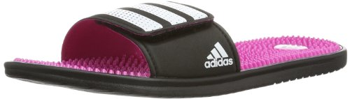 Adidas Womens Adissage Light Slide Water Shoes Pink Pink (black/cosmic pink s14/running white) Size: 40 2/3