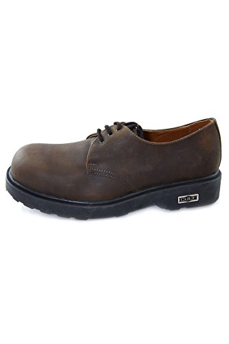 Cult Vintage Leather Shoes with Steel Toe Bolt Crazy Horse CL2572G816A Brown (41 EU, Brown)