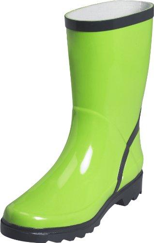 Playshoes Womens Klassischer Damen Gummistiefel, Stiefelette, Regenstiefel Snow Boots Green Grün (grün/grau 798) Size: 7 (41 EU)