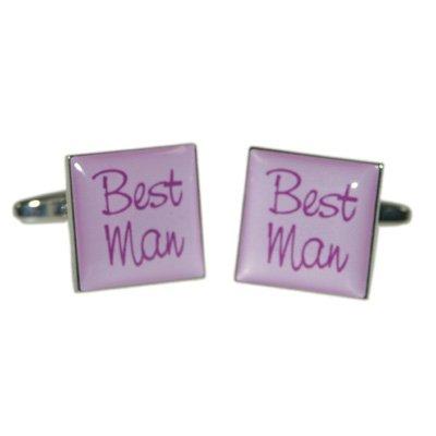 Best Man Lilac Square Wedding Cufflinks. (X2BOCW002)
