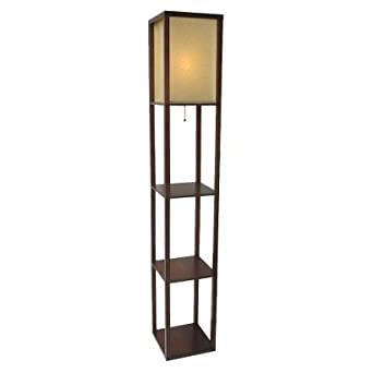 Thresholdtm shelf floor lamp with paper shade walnut for Amazon floor lamp shelf