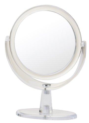 Danielle Clear Acrylic Pedestal Mirror