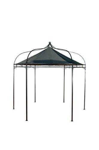 CLP sechseckiger Pavillon MANLEY aus Metall inkl. wasserdichtem Dach (Höhe 280 cm, Breite 280 cm) schwarz