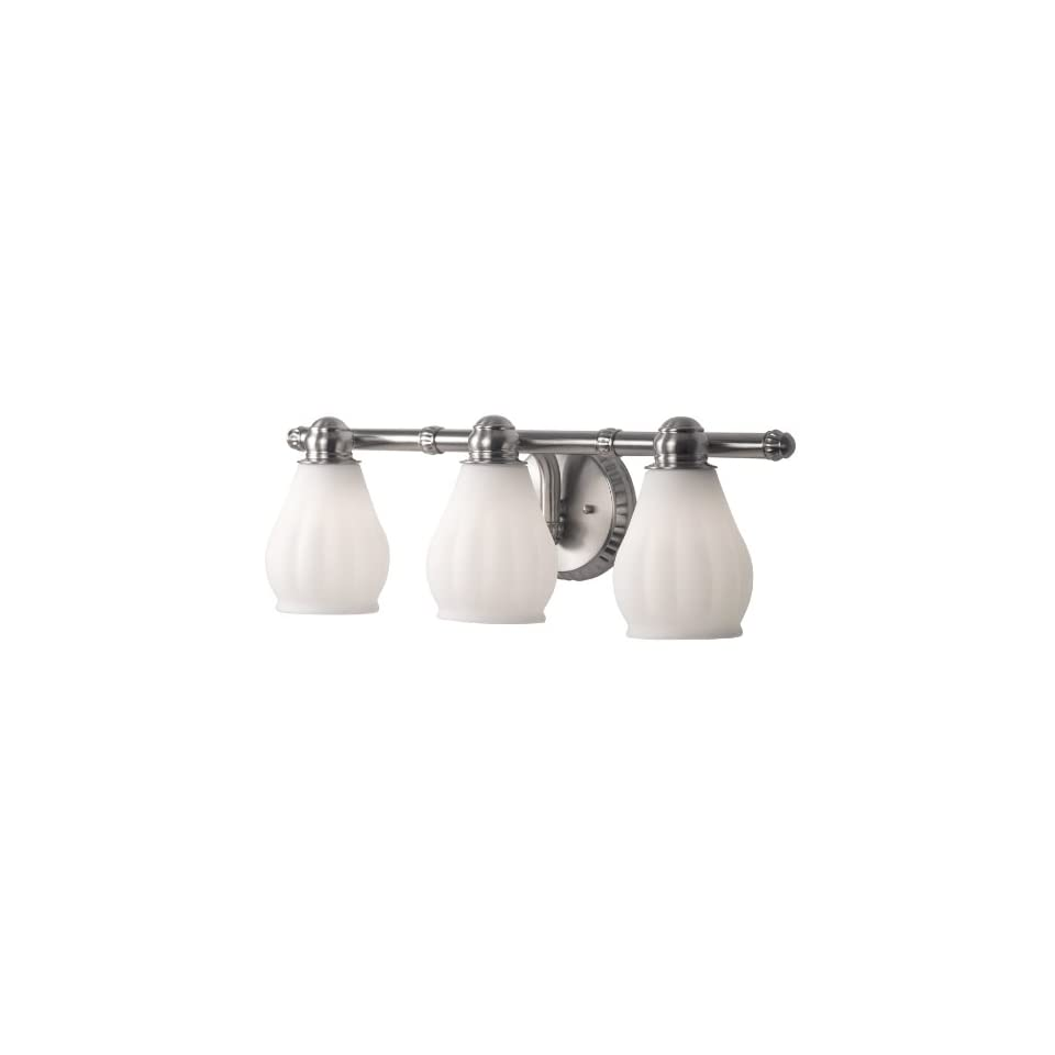 Checkolite 9643 71 Price Pfister Treviso Collection 3 Light Vanity, Brush Nickel