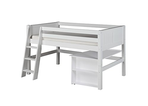 White Wooden Bunk Beds 9542 front