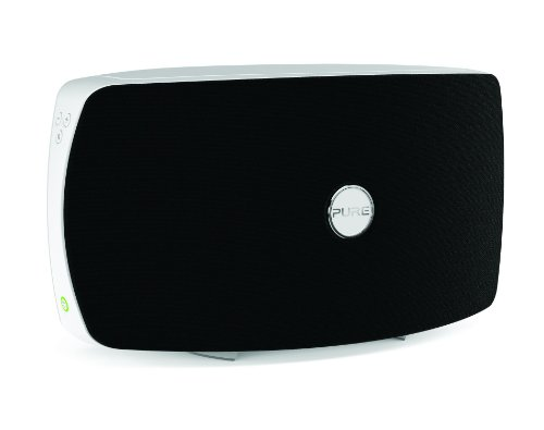 Pure Jongo T6 Wireless Speaker With Wi-Fi And Bluetooth, Piano Black/White
