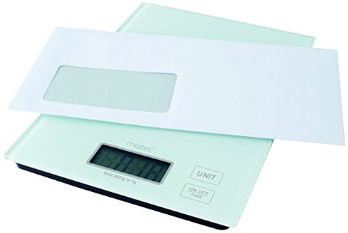 Balance de cuisine en verre avec écran lCD digital peut être utilisée comme pèse-lettre