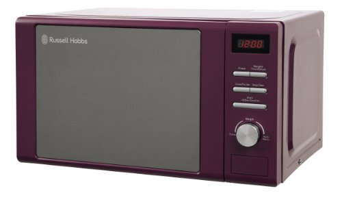 Russell Hobbs Heritage RHM2064P Microwave Oven, 20 Litre, Purple