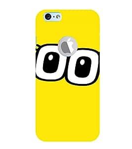 PrintVisa Cartoon Eyes Emotion 3D Hard Polycarbonate Designer Back Case Cover for Apple iPhone 6 Logo