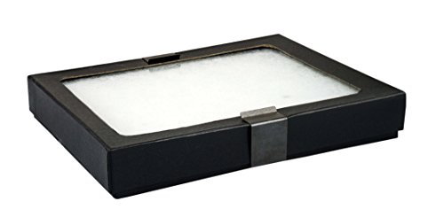 SE JT925 Glass Top Display Box with Metal Clips, 6.25
