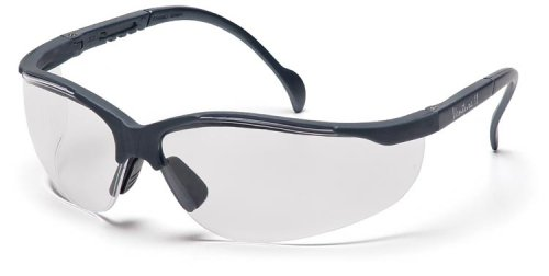 Pyramex Venture II Safety Eyewear, Clear Lens With Slate Gray Frame