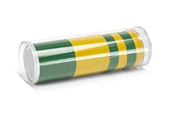 """TapeCase RRT-1003 Green/Yellow, Polypropylene/Rubber Adhesive, Rally Rolls Duct Tape, Lower Temperature: 50 degrees F, Upper Temperature: 200 degrees F, Length: 3 yd, Width: 1.9"""""""
