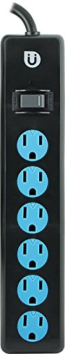 Uber 25115 Power Strip, 6 Outlets 4-Feet Cord Safety Covers (Safety Power Strip compare prices)