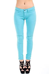 Cello Jeans Non-Riveted Jeans in Pastel Teal