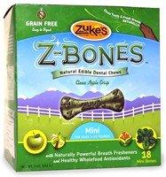 Zuke's Z-Bones - Natural Edible Dental Chews - Apple Crisp - Mini - 18 count