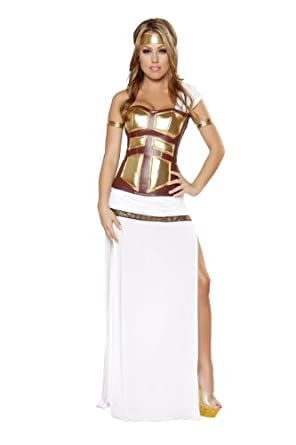 Roma Costume 4 Piece Greek Goddess As Shown, White, Large