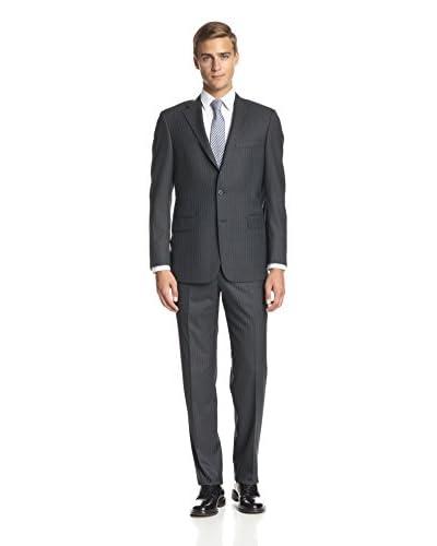 Hickey Freeman Men's Pinstripe Notch Lapel Suit